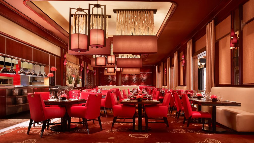 Gajah Bumi Restaurant Design Ideas With Red Color
